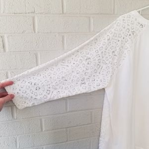 Rafaella Tops - ▪Rafaella▪ White Lace Overlay Top